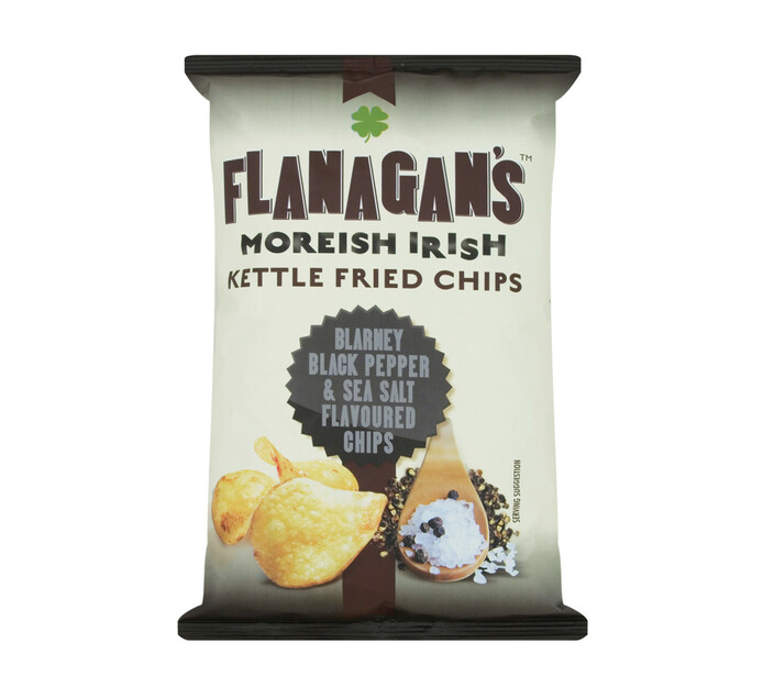 Flanagan's Potato Chips Sea Salt and Black Pepper (1 x 125G)