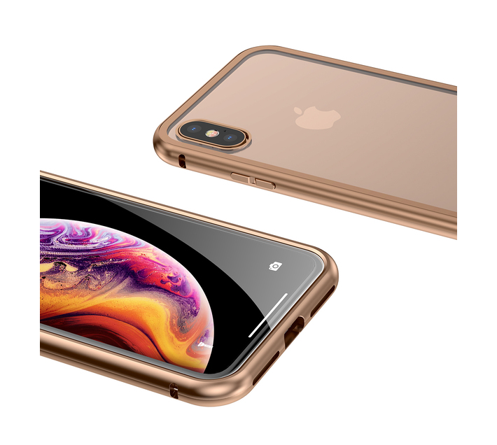 Baseus Magnetite Magnetic Hardware Case for iPhone XS Max - Gold