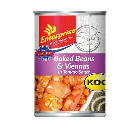 Enterprise Tinned Meals Baked Beans And Viennas (1 x 410g)