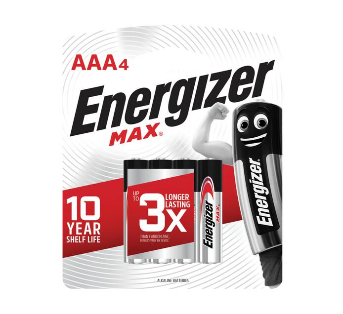 Energizer Max AAA Alkaline Batteries 4-Pack