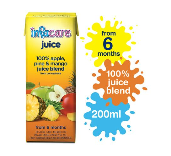 Infacare Fruit Juice Apple,Pineapple and Mango (6 x 200ml)
