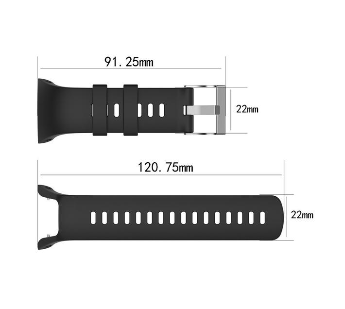 GG Replacement Strap for Suunto Trainer Wrist HR - White