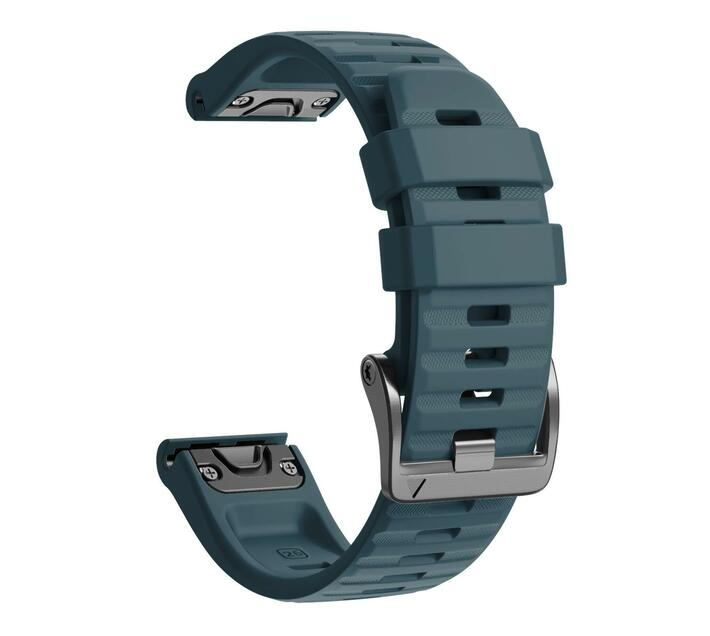 Replacement Silicone Band for Fenix 6X(26mm) - Slate