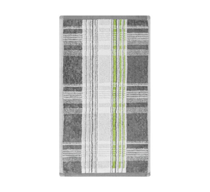 Glodina Tartan Velour Guest Towel Grey & Lime