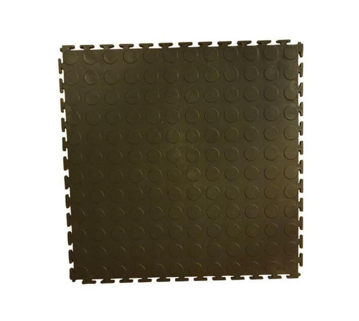 Brown color interlocking tile 1 m²