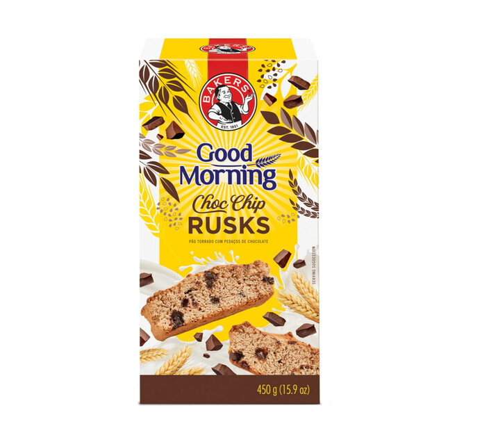 Bakers Good Morning Rusks Choc Chip (1 x 450g)
