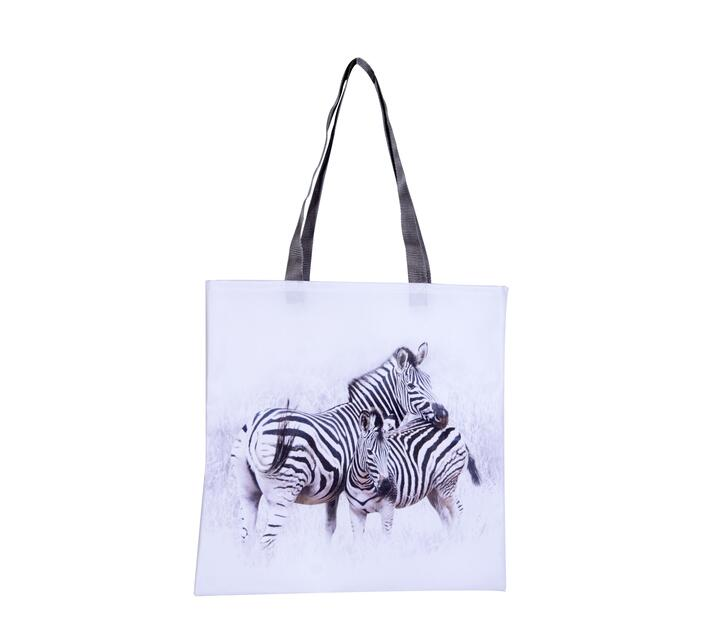 Tote Bag with two zebra print.