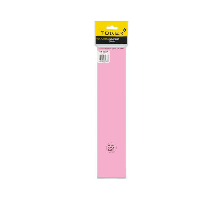 Lever Arch Light Pink Labels