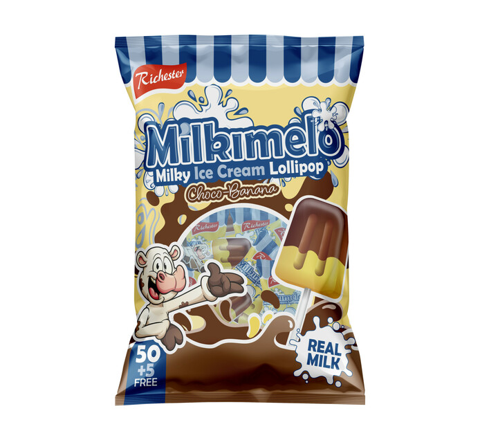 Richester Milkimelo Lollies Choco Banana (1 x 55's)