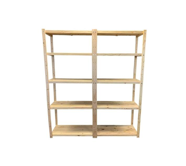 2 x Bay Wooden Bolted Shelving Unit