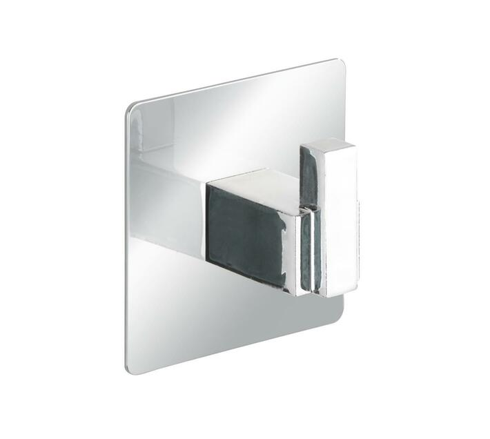 WENKO Turbo-Loc Stainless Steel Wall Single Hook Quadro Range - No Drilling Required
