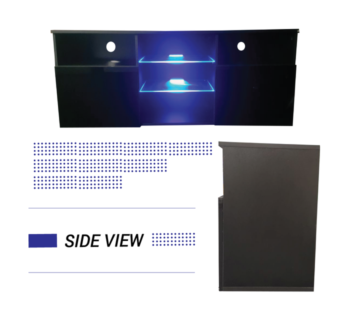 TV Stand With Blue LED Lights G37-Black