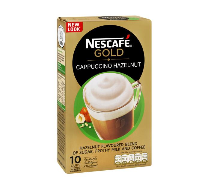 Nescafe Cappuccino Sachets Hazelnut (1 x 10's)