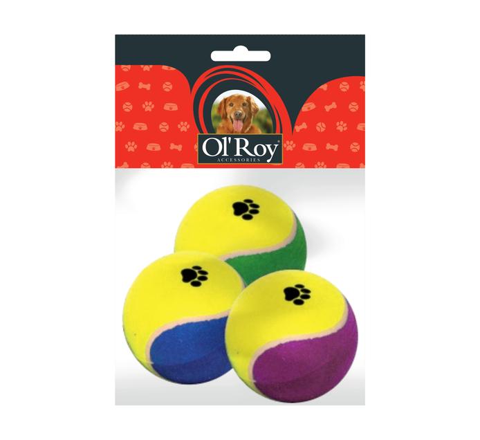 OL'ROY TENNIS BALL 3 PACK