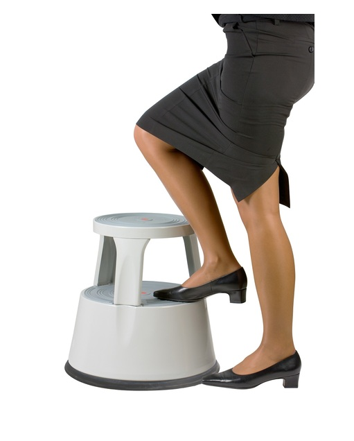 Kick Step Stool Stepper with Spring Loaded Wheels