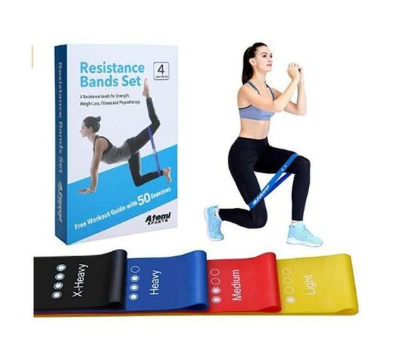 Atemi Sports Resistance Bands - with 50 Exercise Booklet