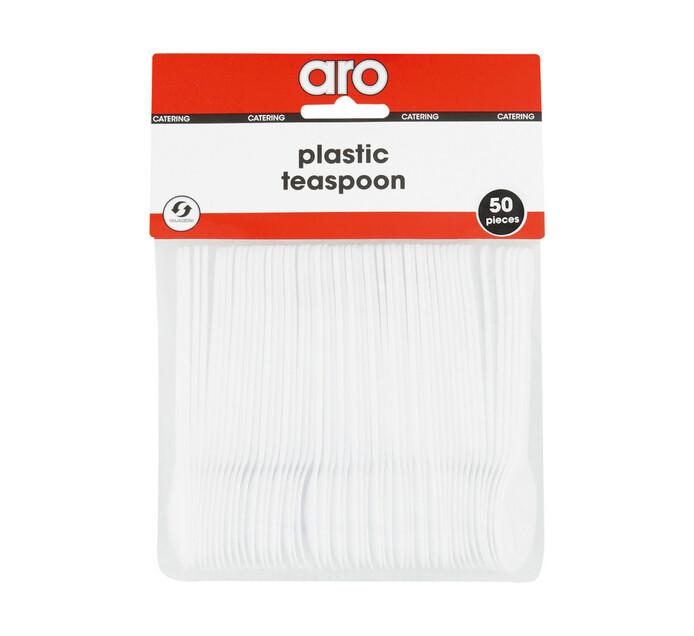 ARO Plastic Cutlery Teaspoons White (1 x 50's)