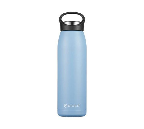 Eiger 700ml Double-Walled Stainless Steel Vacuum Flask - Light Blue