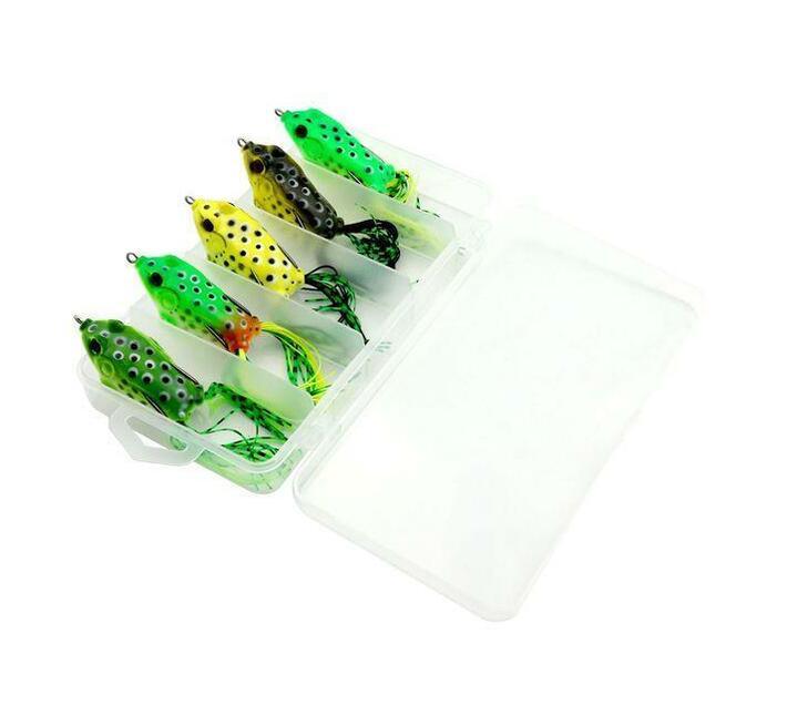 Hengjia 5pcs Soft Frog Bait Fishing Lures