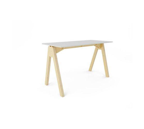 Simple A Desk - White