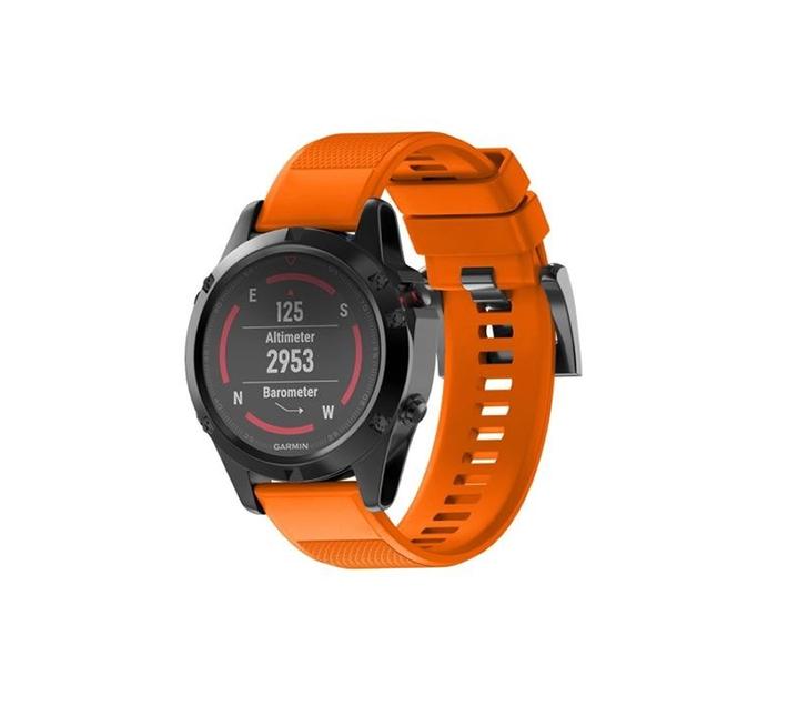 5by5 Quick Release Silicone Strap - Garmin 935/945/Fenix 5/6 - 22mm (Orange)