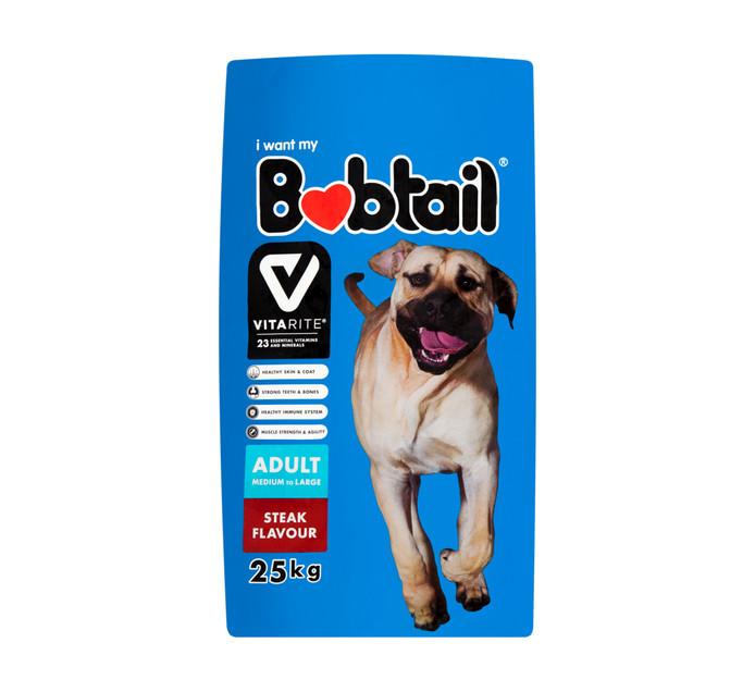 Bobtail Dry Dog Food Medium Steak (25kg)