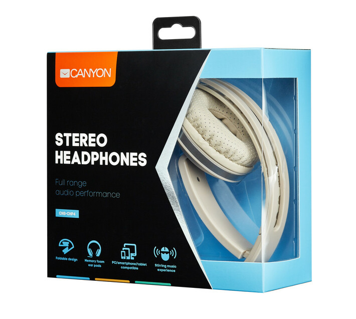 Canyon Wired Foldable Stereo headphone with Microphone
