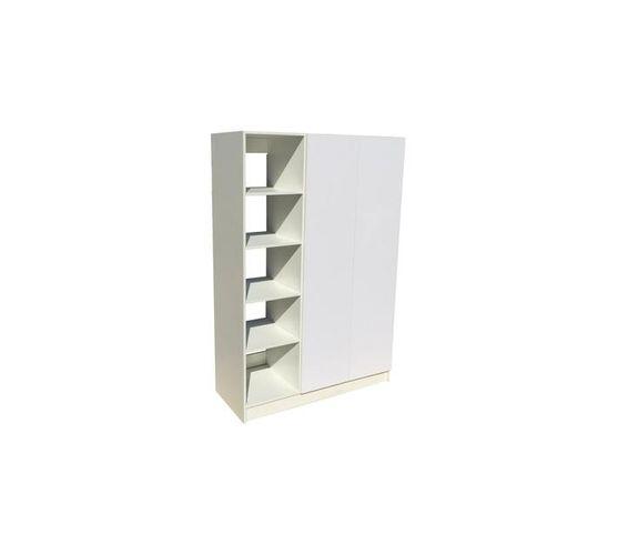 BIC1200 2Door Open Shelf Mel. White