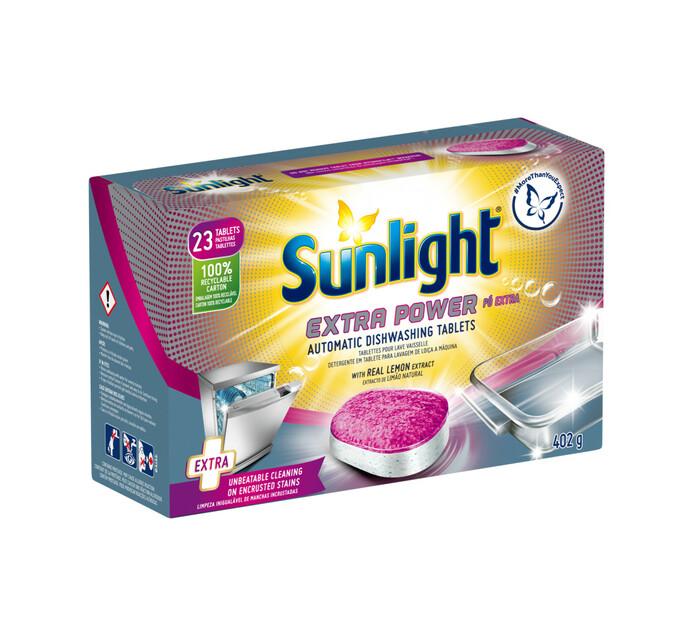 SUNLIGHT DISHW TABLETS 23'S, EXTRA POWER