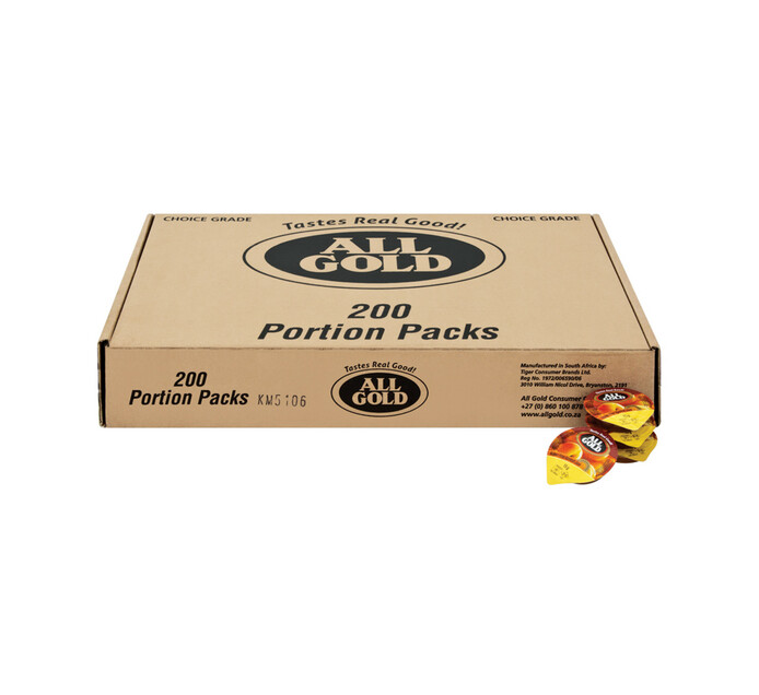 All Gold Portion Pack Jam Apricot (200 x 15g)