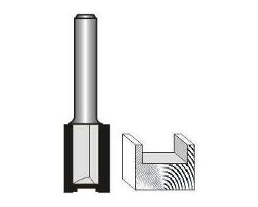 Straight Bit 1/2 (12.7mm) X 1(25.4mm) Two Flute 1/4 Shank
