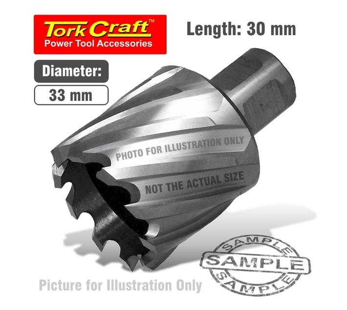 Annular Hole Cutter Hss 33 X 30mm Broach Slugger Bit