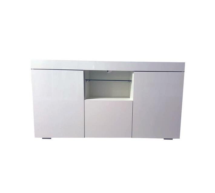 White TV Stand With Blue LED Lights G-19