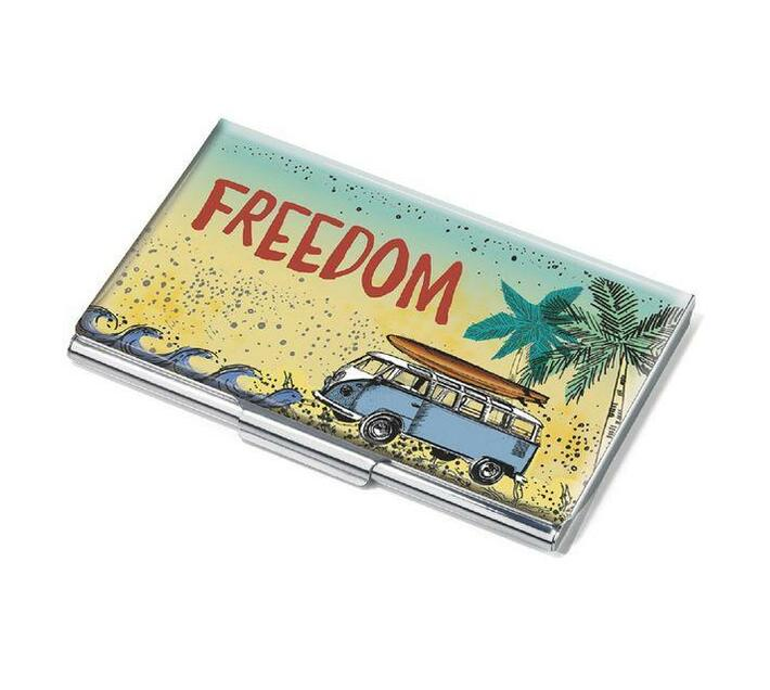 Troika Business Card Case Metal VW FREEDOM