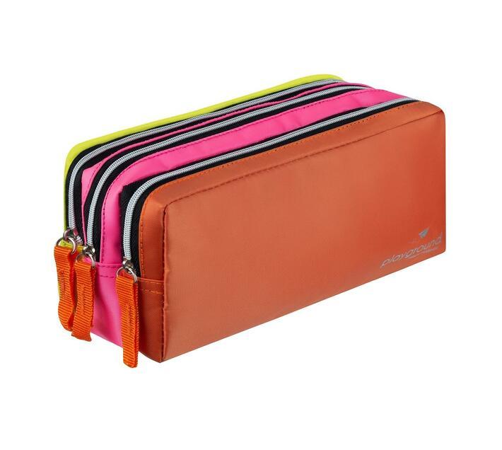 Playground Colourtime 3-Div Pencil Case - Neon Multi