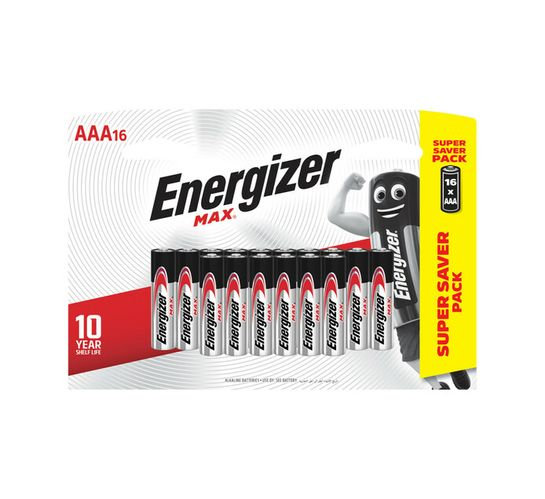 Energizer Max AAA Batteries 16-Pack