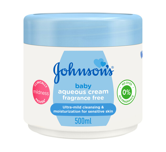 Johnson's Baby Aqueous Cream Fragrance Free (1 x 500ml)