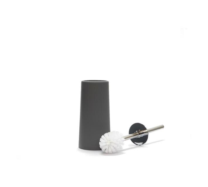 Toilet Brush Round Plastic Grey