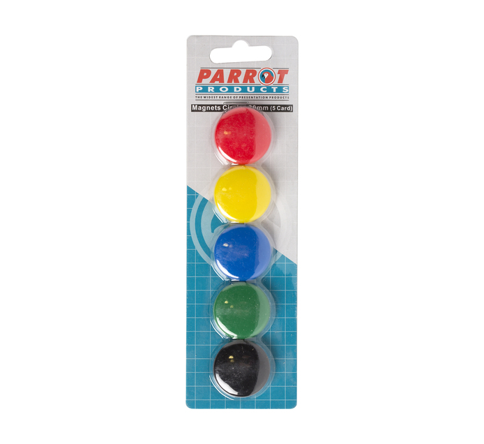 Parrot 30 mm Magnets Circle Assorted 5-Pack