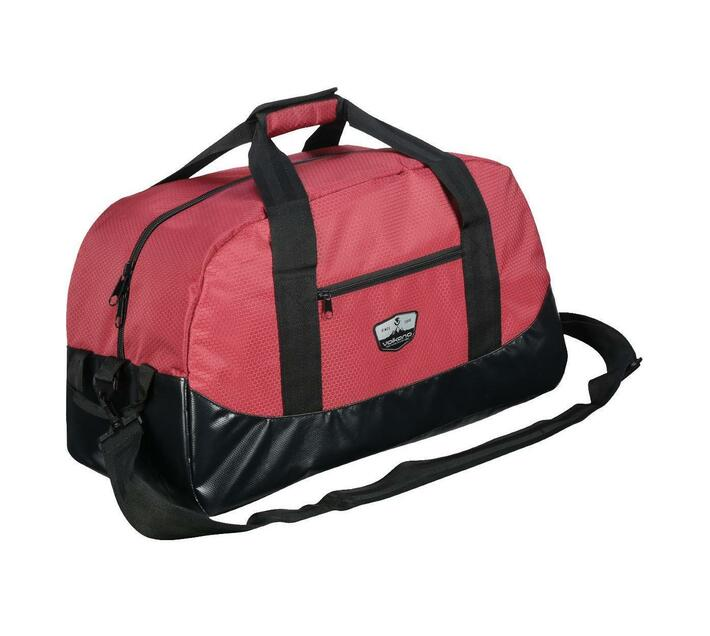 Volkano Notties Series Duffle Bag in Red and Black with 50 Litre Capacity
