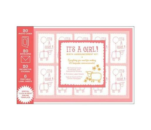 Birth Announcement Kit : Girl