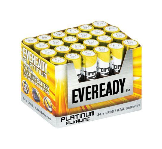 Eveready Platinum AAA Batteries 24-Pack