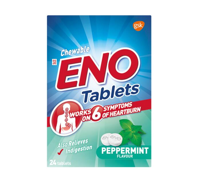 ENO Heartburn & Antacid Tablets Peppermint (1 x 24's)