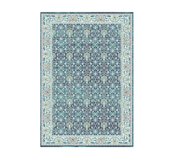 Zenith Rug - Tribal Floral Blue 290cm x 200cm