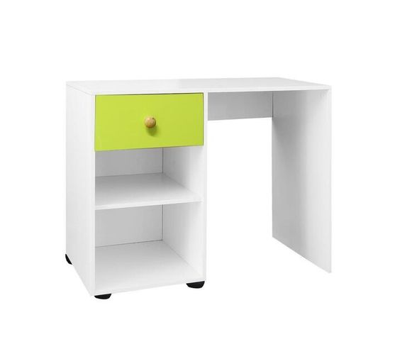 Multifunctional Desk with 1 Drawer in UV Green