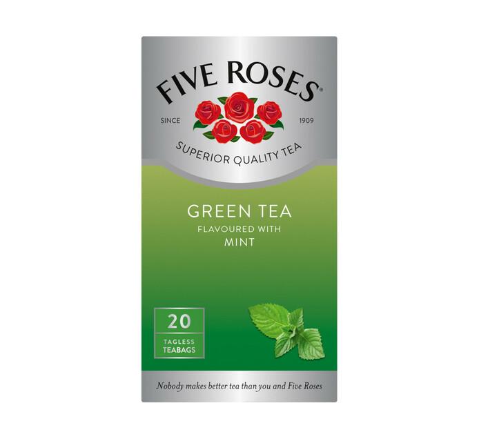 Five Roses Teabags Green Tea & Mint (1 x 20's)