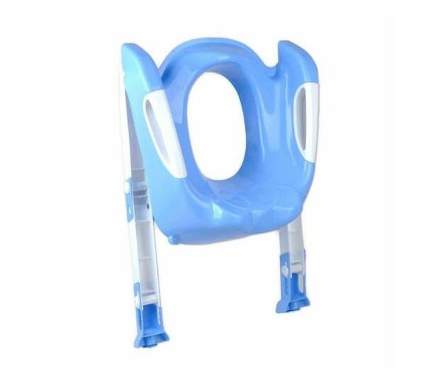 Toddler Folding Potty Training Toilet Ladder Blue