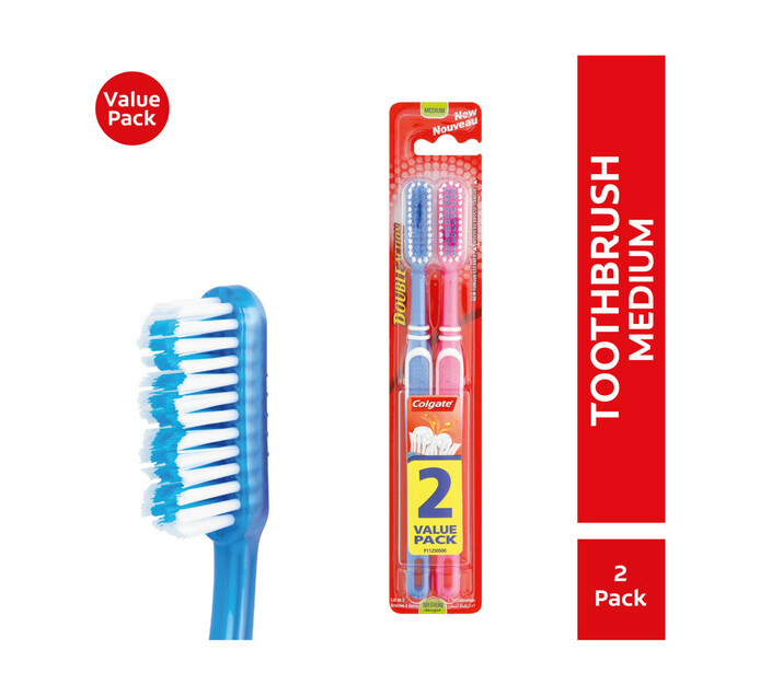 Colgate Double Action Toothbrush Medium Twin Pack (1 x 1's)