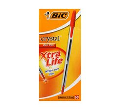 BIC Cristal Ballpoint Pens 60-Pack Red