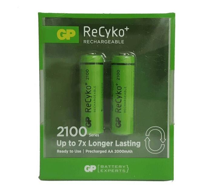 GP Recyko + Rechargeable AA 2050Mah Card Of 2